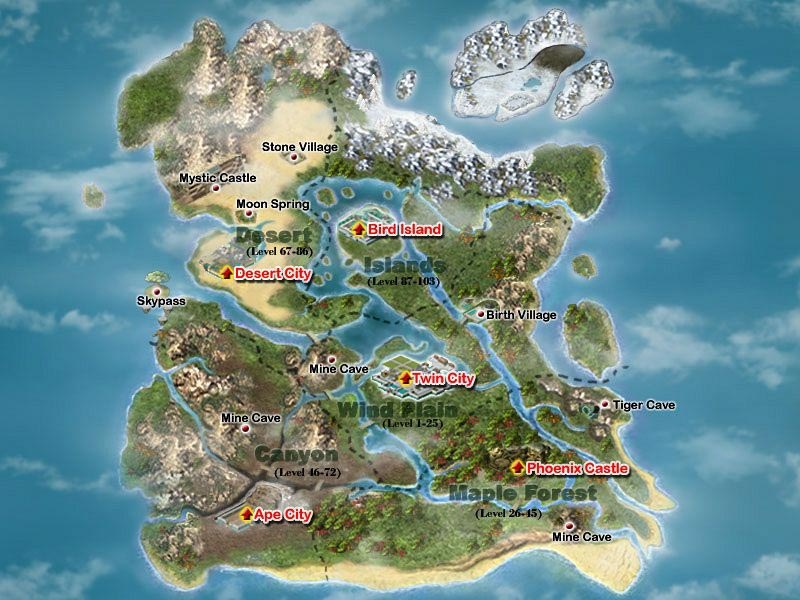Conquer Online Gallery World map co99com